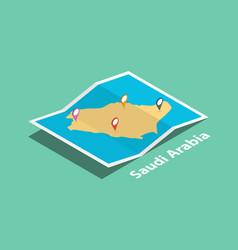Explore saudi arabia maps with isometric style vector