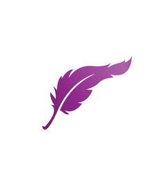 feather logo icon design template isolated vector image