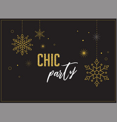 Fireworks chic party invitation design vector