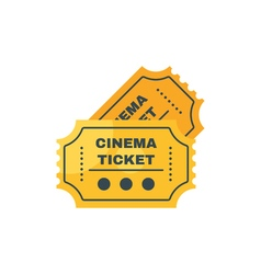 Flat style of cinema ticket Isolated on white vector