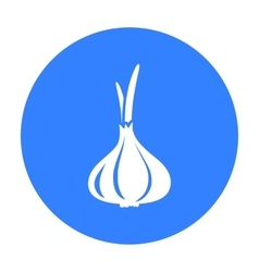 Garlic icon black Singe vegetables icon from the vector