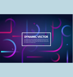 Gradient dynamic line background vector