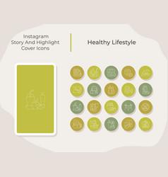 Healthy lifestyle social media story vector