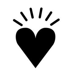 Heart love romantic icon vector