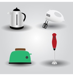 Home kitchen electrical appliances eps10 vector
