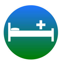 hospital sign white icon in vector image