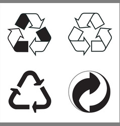 Industrial conventional signs recycling vector
