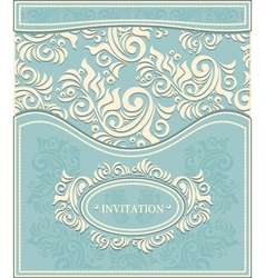 Invitation or Frame in Decorative floral backgroun vector