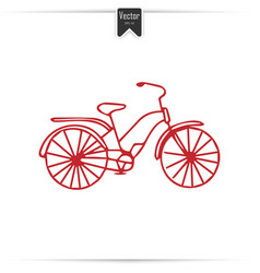 kid doodle bicycle with isolated vector image