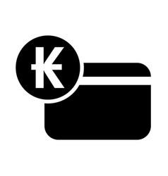 laos kip credit card icon vector image
