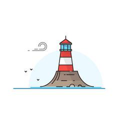 lighthouse landscape vector image