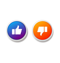 like and unlike button vector image