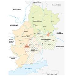 Map disputed donbass region ukraine russia vector