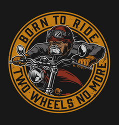 Motorcycle vintage round logotype vector