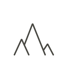 mountains icon line landscape travel symbo vector image