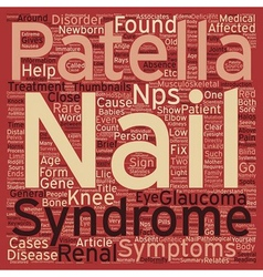 Nail Patella Syndrome text background wordcloud vector