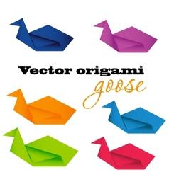 Origami goose vector