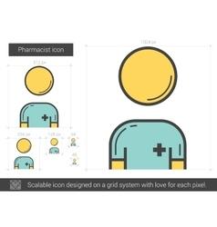 Pharmacist line icon vector image