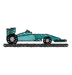 race car doodle vector image vector image