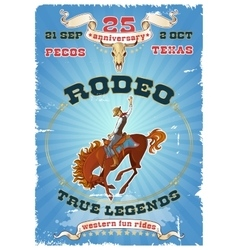 Rodeo Retro Poster vector