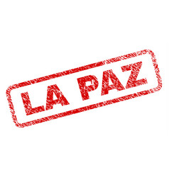 Scratched la paz rounded rectangle stamp vector