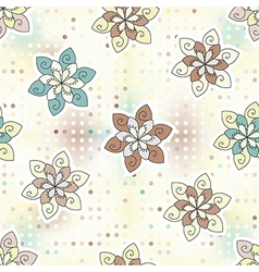 Seamless background of ethnic flower vector