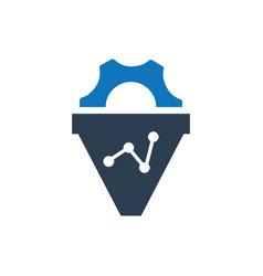 Seo conversion icon vector