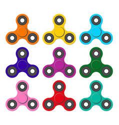 set of spinners relaxing trend toy for children vector image
