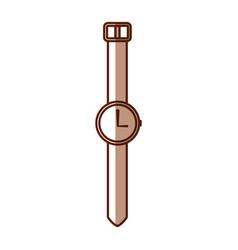 Shadow vintage watch cartoon vector