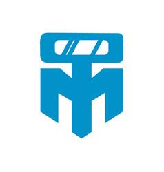 simple robot logo vector image