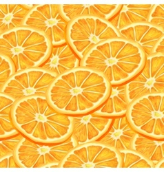 Sliced orange seamless background vector image