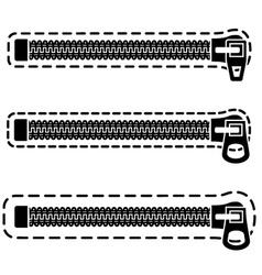 Spiral zipper black symbols vector