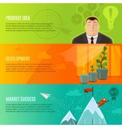 Startup Banner Set vector