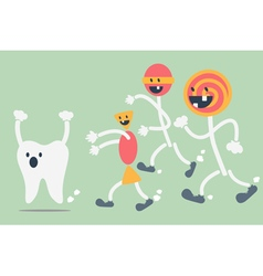Teeth problem from sweets vector