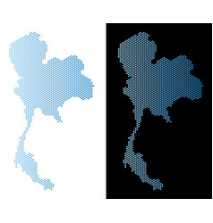 Thailand map hex tile abstraction vector