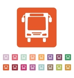 The bus icon Travel symbol Flat vector image