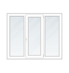 three section window vector image