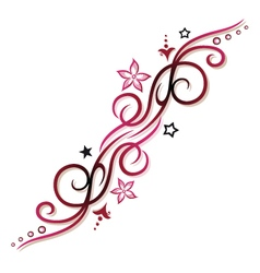 Tribal tattoo pink vector