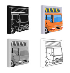 truck entrance to station single icon in vector image
