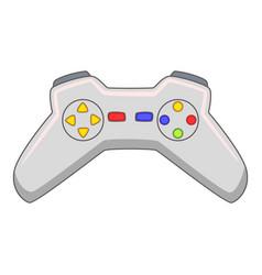 Video game controller icon cartoon style vector