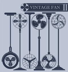 Vintage fan II vector image