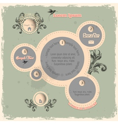 Web design bubbles in vintage style vector