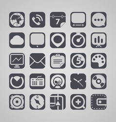 web graphic interface icons collection vector image vector image