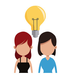 Women idea team communication vector