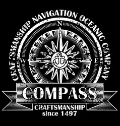 corporate logo with compass retro vector image