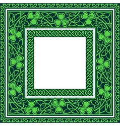 editable celtic borders vector image vector image