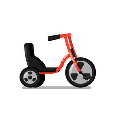 kids tricycle isolated icon vector image vector image