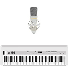 Microphone and synthesizer vector image