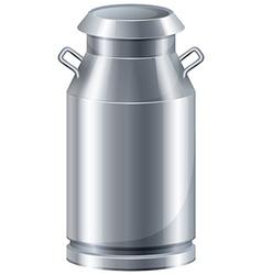 Milk in tank vector image