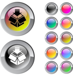 Package multicolor round button vector image vector image